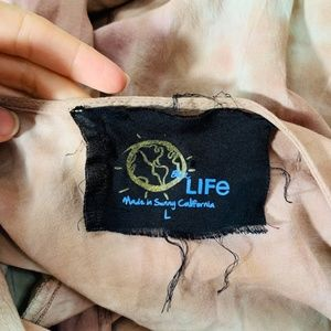 Blue Life Pants - Blue Life 3/4 sleeve Romper Pink Green Brown Large